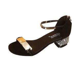 8c65f0fc3802 SANDALE - NU-PIEDS Été Femmes Nu-pieds Chaussures Toe Flicker talon c