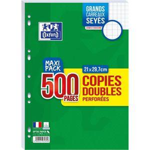 FEUILLET MOBILE OXFORD - Copies doubles perforées 500 pages seyès