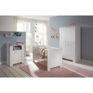 Olivia chambre bebe complete lit 70x140 cm armoire commode ...