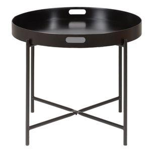 TABLE BASSE Table basse ronde métal 60 cm  Barrio Noir