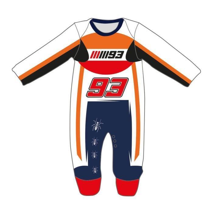 GP MOTORS Pyjama Replica Racing Suit - Bébé Garçon - Orange et Rouge