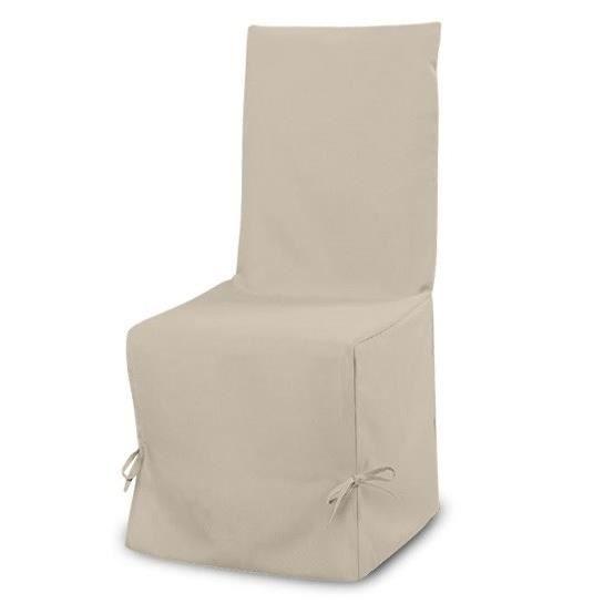 SOLEIL D'OCRE Housse de chaise Panama 50 cm beige