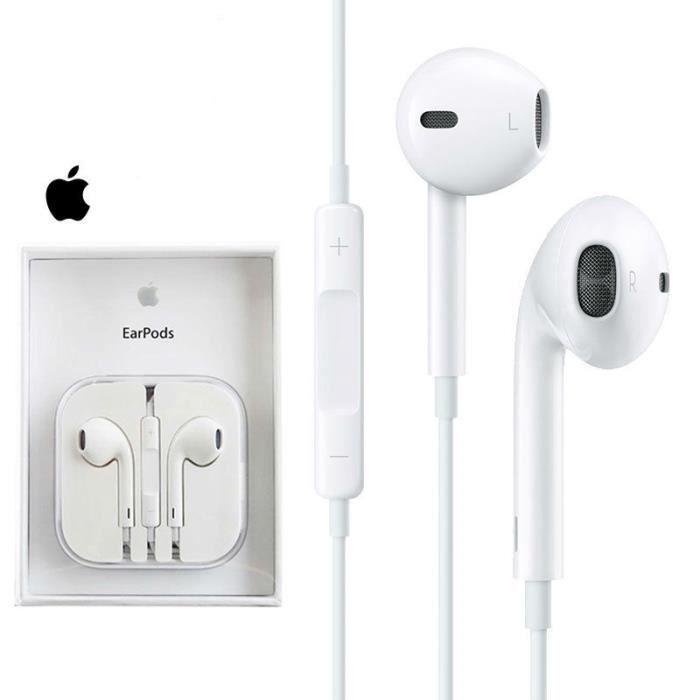 apple ecouteurs iphone 6 authentiques avec mini jack 3 5mm. Black Bedroom Furniture Sets. Home Design Ideas