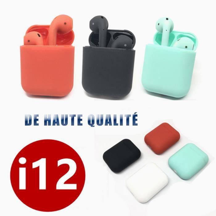 Bluetooth Écouteur Tws-i12 Écouteurs De Sport Avec Des Cartouches(vert Menthe)