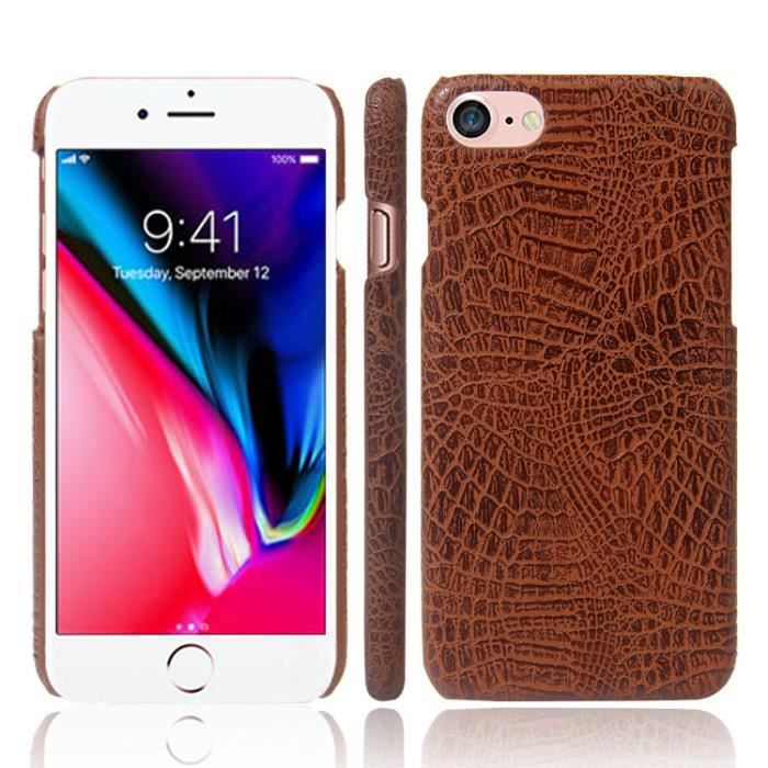 coque arriere cuir iphone 8 plus