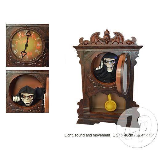 horloge coucou halloween 57cm achat vente déco de fête murale