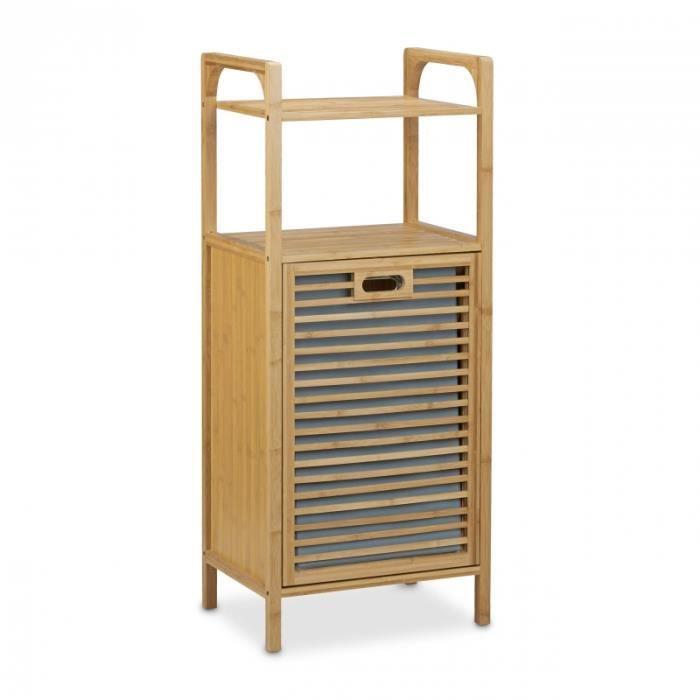 panier à linge pliant en bambou corbeille à linge 95 x 40 cm