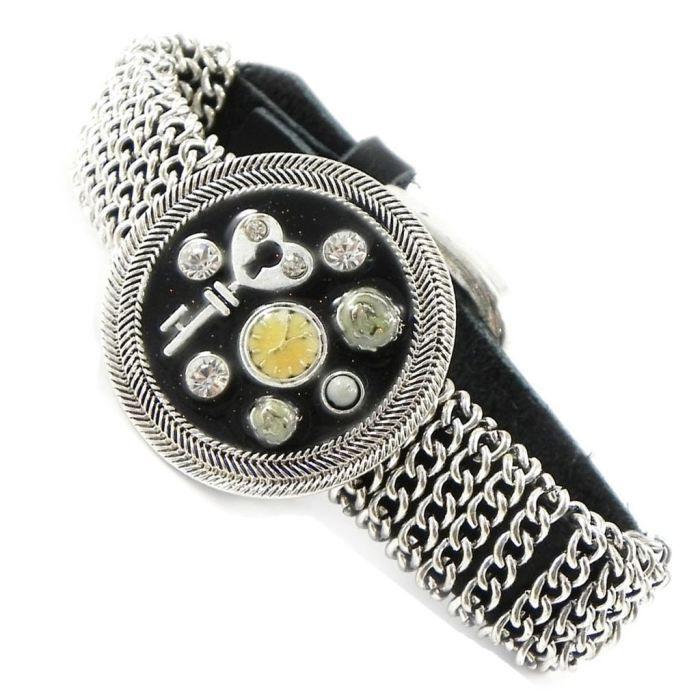 Bracelet Créateur Babouchka noir argenté