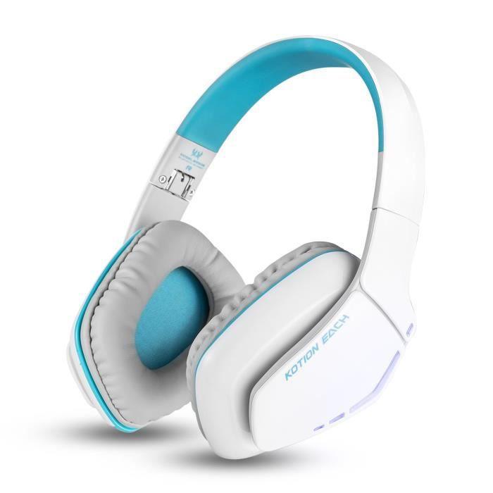 Casque Sans Fil Bluetooth Stéréo Bleu