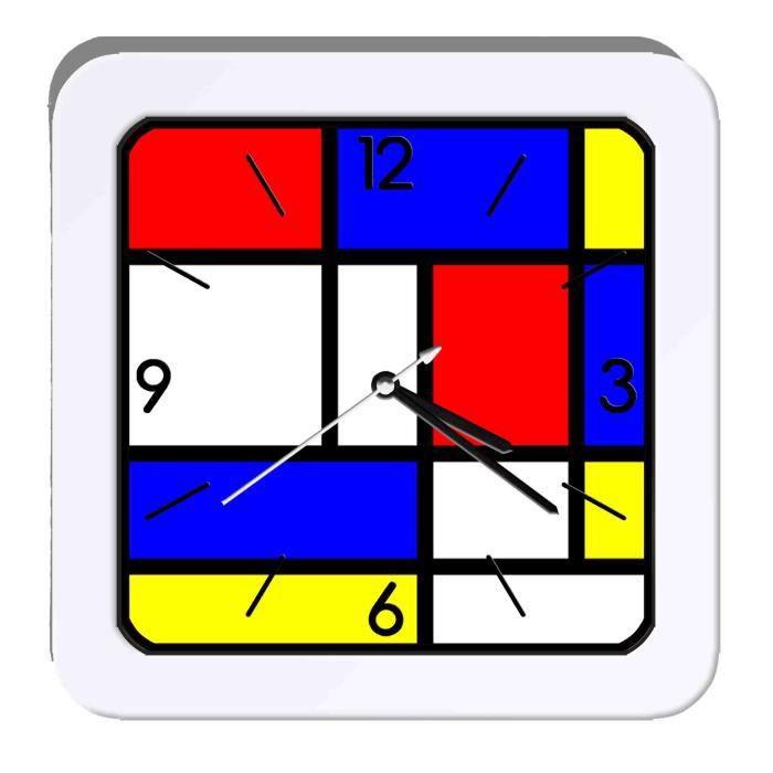 Réveil Piet Mondrian