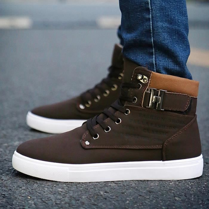 Automne r tro casual Chaussures montantes homme... e9ORF