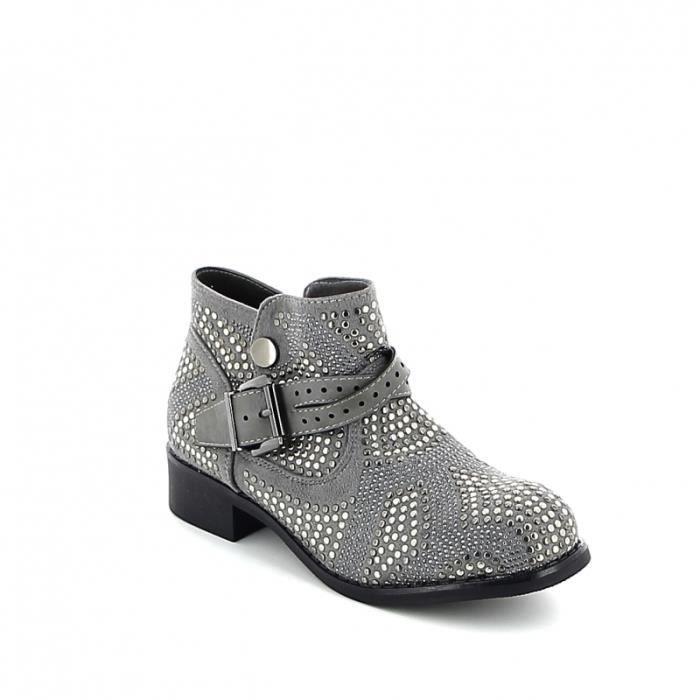 Low-boots à clous - Gris