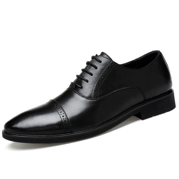 F9906-Noir-42 Chaussures Top Qualité 2017Hommes En Cuir VéritableHabillées De Luxe Mâle Italian afIZJK1U