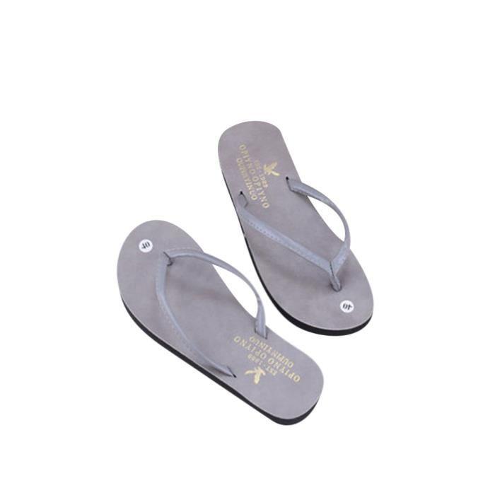 Hommes Flip Flops ete Tong Haut qualité Respirant Classique Pantoufle antidérapants plage flip flopsNouvelle mode chaussons