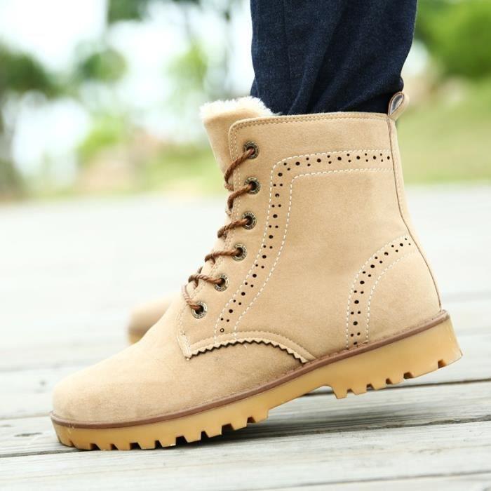 Botte Homme cheville style coréen kaki taille8