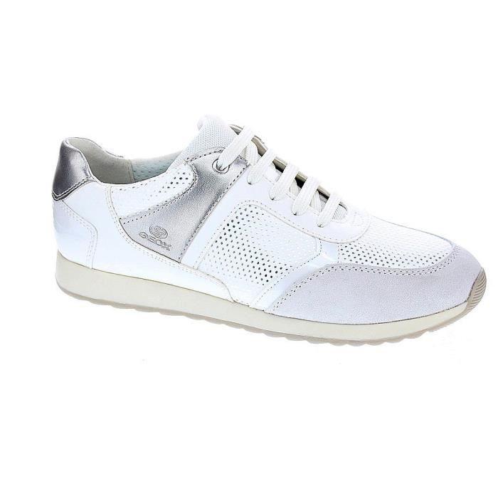 177d744eb4eee8 Baskets basses - Geox Deynna Femme Blanc Blanc Blanc - Achat / Vente ...