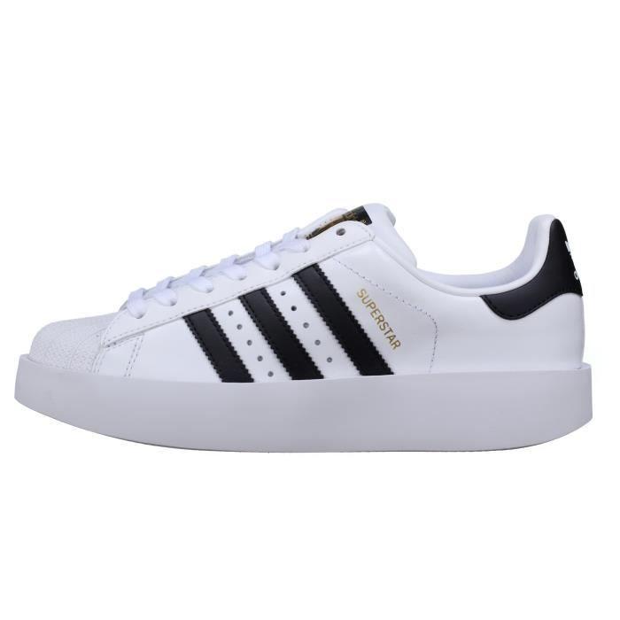 Basket Adidas Superstar Bold W Ba7666 Blanc - Noir gyogwO