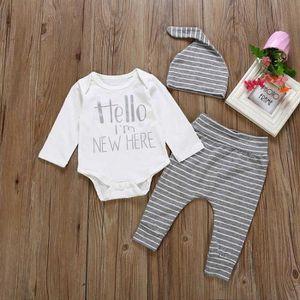 6ad625386260 Ensemble de vêtements 3PCS infantile pour bébé Garçons Filles Lettre à m ...