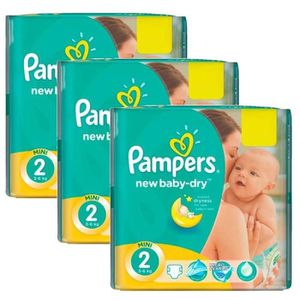 COUCHE 129 Couches Pampers New Baby Dry taille 2