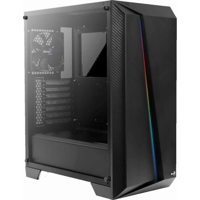 AEROCOOL Cylon PRO (RGB) Noir TG (Verre trempé) -  Boîtier sans alimentation - Format ATX
