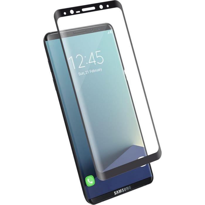 BIGBEN Protège-écran en verre trempé pour Samsung Galaxy S8 + G955 - Contour noir