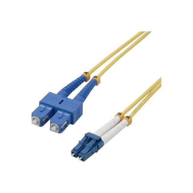 MCL Jarretière optique OS2 duplex monomode 9/125 - LC / LC 20 m