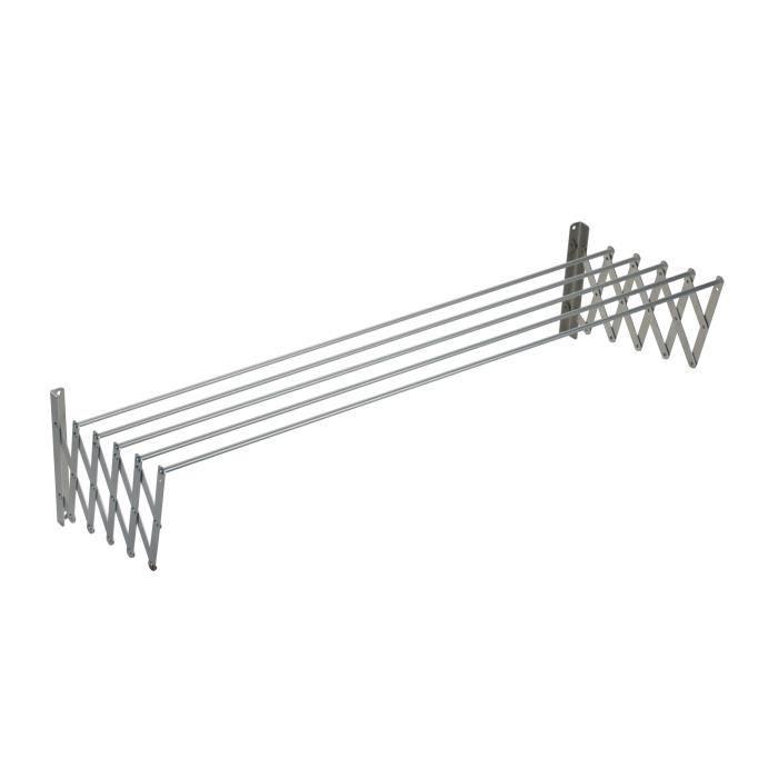 SAUVIC Séchoir à linge extensible en aluminium - 120 cm
