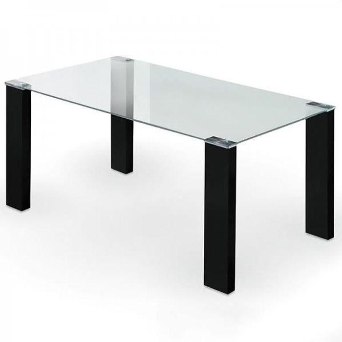 Table à manger oslo NOIR VERRE TRANSPARENT - Achat / Vente table à ...