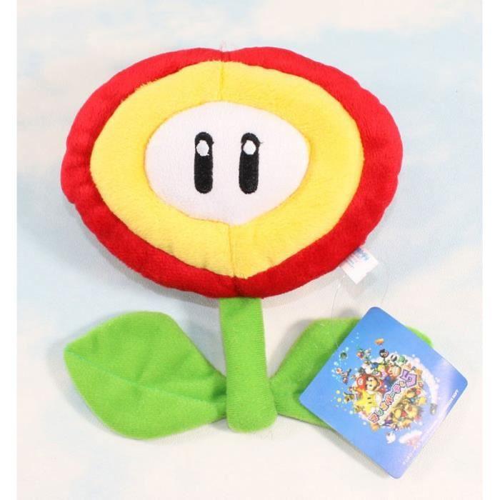 Super Mario Bros Peluche Fleur De Feu Jouet Doux Jouet De Figurines