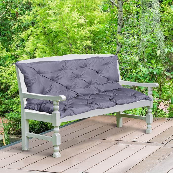 Coussin matelas assise dossier pour banc de jardin balancelle canapé ...