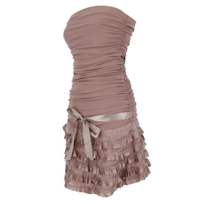 robe de soir e courte femme renata vieux rose rose achat vente robe de c r monie. Black Bedroom Furniture Sets. Home Design Ideas