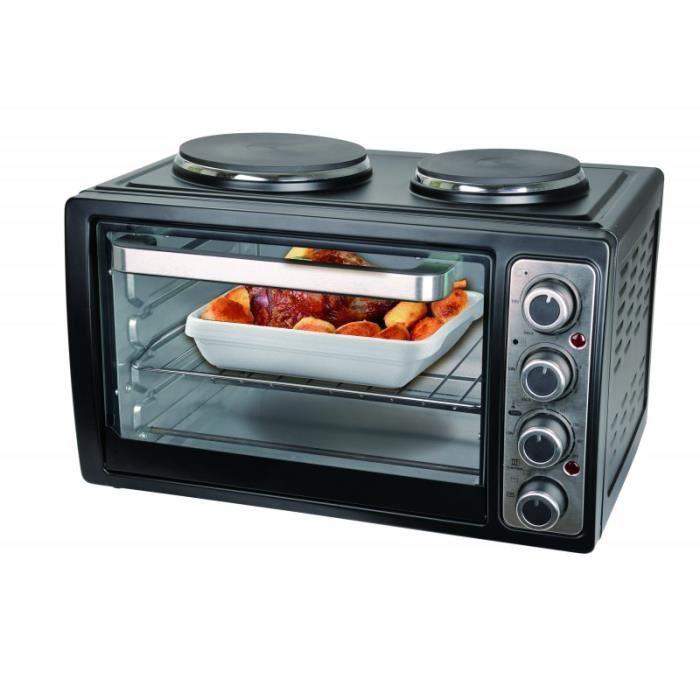 9655d0990a3f0c Petite cuisine Mini Four 2 Plaques chauffantes 3100W 28 Litre Au dessus