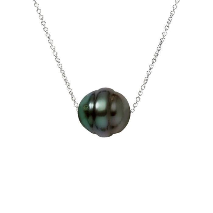 SAUTOIR ET COLLIER PERLINEA Collier Perle de Tahiti et Argent 925° Fe
