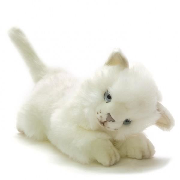 peluche chat blanc joueur 24 cm achat vente peluche cdiscount. Black Bedroom Furniture Sets. Home Design Ideas