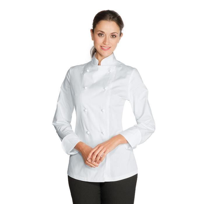 Cuisine De 100 Blanc Achat Vente Coton Femme Veste q6U5wxndpp