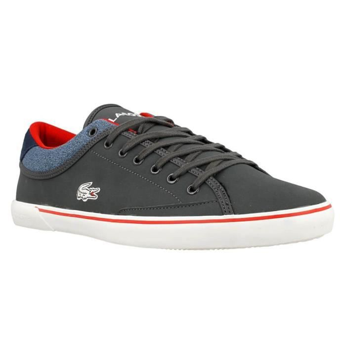 fc084bb3485 Chaussures Lacoste Angha Gris Gris - Achat   Vente basket - Cdiscount