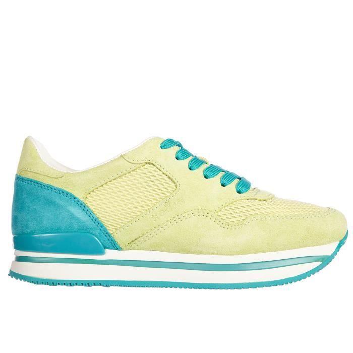 Chaussures baskets sneakers femme en daim h222 vintage Hogan