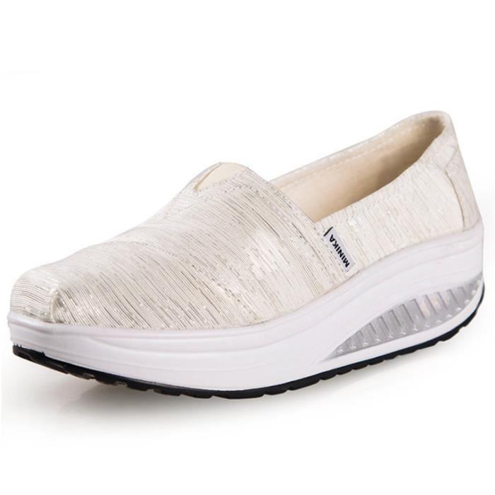 Chaussures Femme Printemps Été à fond épaiséChaussure BCHT-XZ064Blanc39
