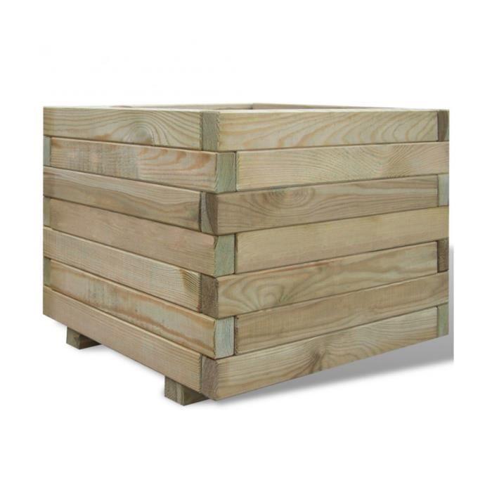 jardinière bois 50x50