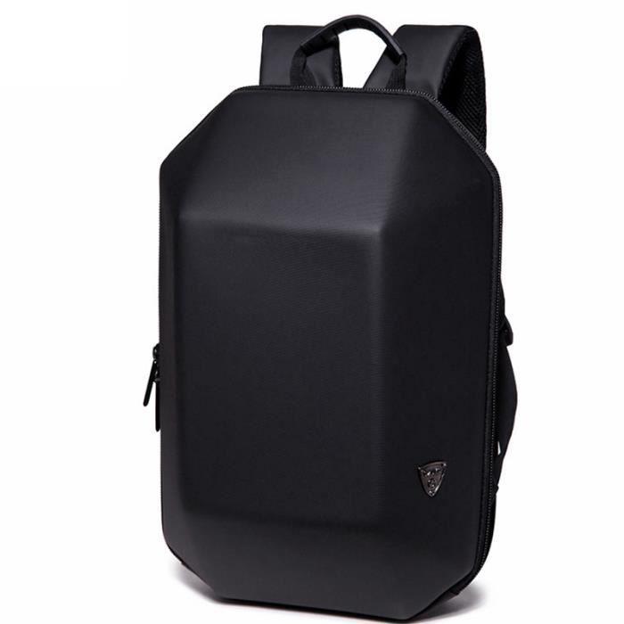 623804a661 Sac à dos pour ordinateur portable Homme Sacs à dos de voyage étanches Sac  à dos anti-vol avec coque rigide en ABS, noir
