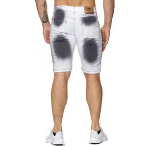 Short en jean homme blanc