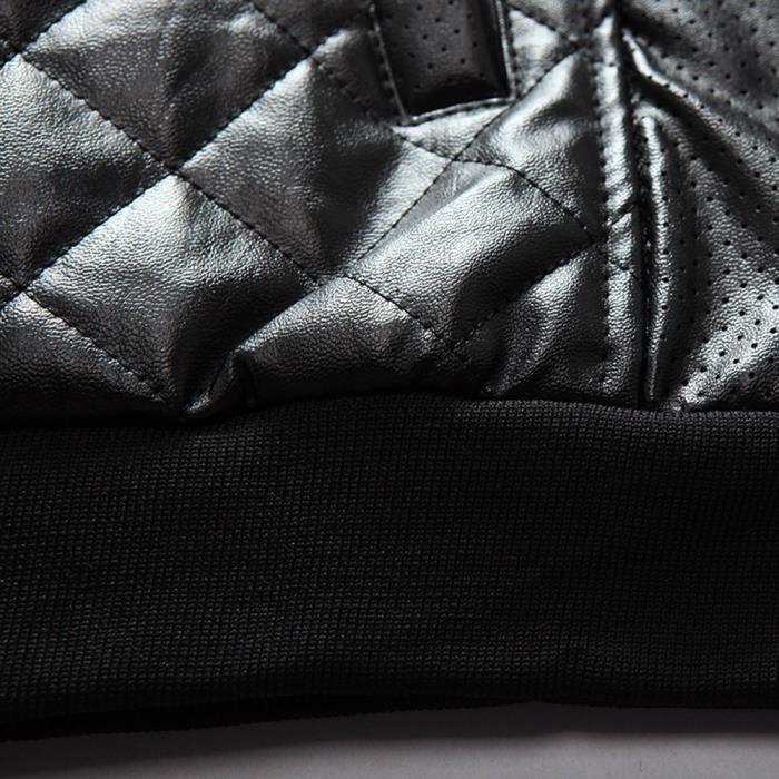 En Survêtement Glissière Cuir Veste Casual Manteaux À Thermique Mode Fermeture Automne Hommes noir Hiver Vestes Top BXFPYq