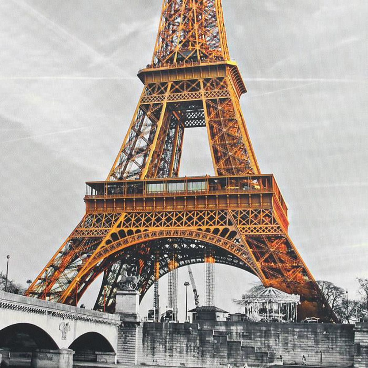 60 50cm peinture huile tour eiffel toile tableau abstraite art moderne d cor mur achat vente. Black Bedroom Furniture Sets. Home Design Ideas