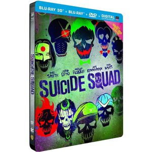 BLU-RAY FILM Blu-ray 3D Suicide Squad – Edition limitée Steelbo