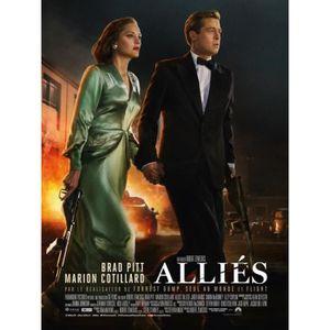 AFFICHE - POSTER Alliés - Allied - 2016 - Brad Pitt, Marion Cotilla