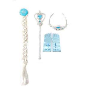 BÂTON - ÉPÉE - BAGUETTE Snow Queen Elsa Déguisement 4 pcs Accessoires Ense