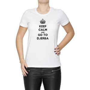 T-SHIRT Tee-shirt - Keep Calm And Go To Djerba Femme Cou D