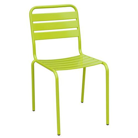 Chaise de jardin empilable Evora - Metal - Vert - Achat / Vente ...