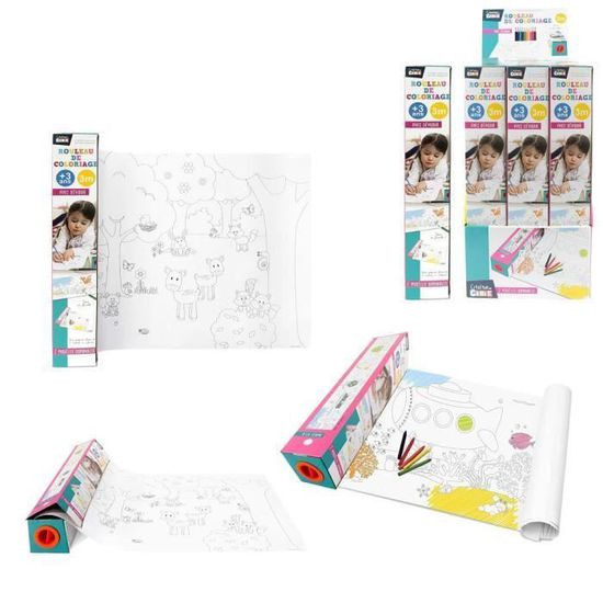 Coloriage Flash Macuine Gratuit.Rouleau De Coloriage 3m Avec Devidoir Modele Aleatoire Loisir Creatif Enfant 099