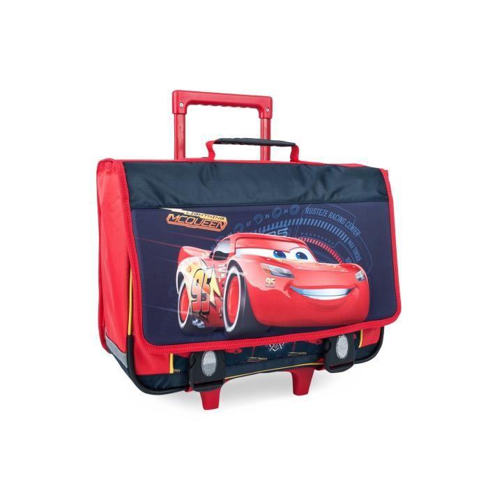 CARS Trolley 2 compartiments - Primaire - Garçon - 41 cm - rouge